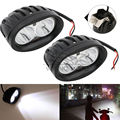 Pair 4 inch 20W 2000 Lumen Universal Motorcycle LED Work Light Spot Bicycle Off Road ATV 4WD Car Driving Fog Auxiliary Lamp