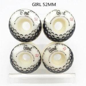 Image 4 - Conjunto de 4 ruedas PRO de EE. UU. De PU de alta densidad, color blanco puro, ruedas de patín de 52mm, ruedas de patín para Kaykay Paten