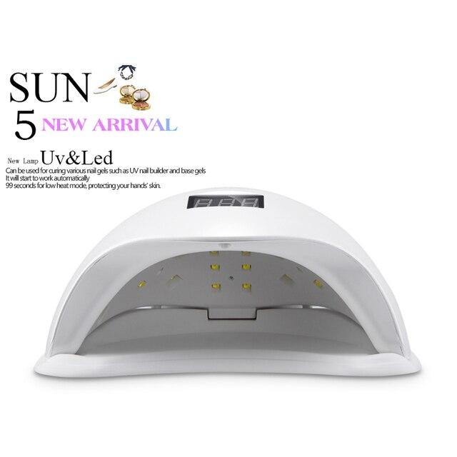 Fast Dry 48W UV Lamp LED Nail Lamp Nail Dryer Half Round Shaped Long Life LED Curing Nail Tools for All UV Gel Nail Polish