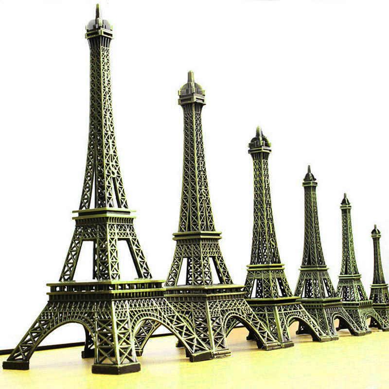 Vendita calda del Metallo Artigianato Bronzo Torre Eiffel di Parigi Figurine Statua Decorazione Della Casa D'epoca Mestiere Del Metallo Dell'annata Casa Decori Souvenir