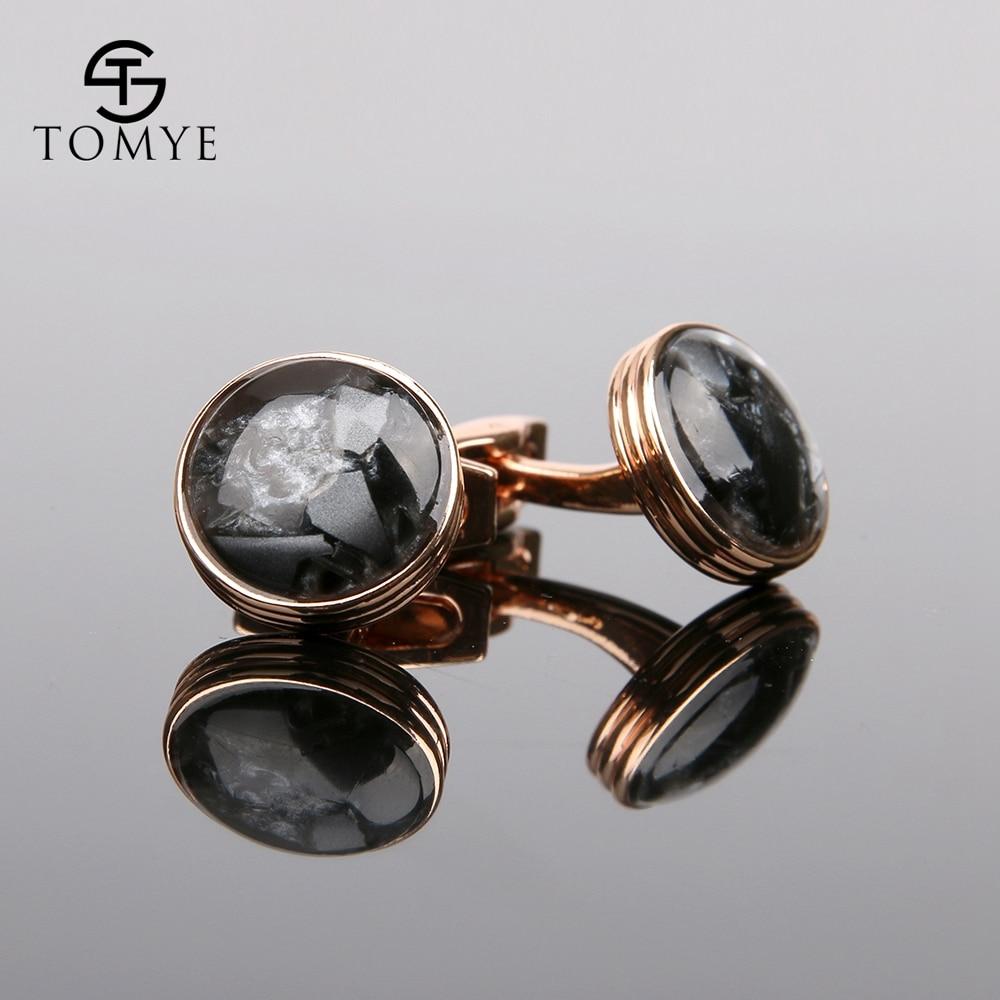 TOMYE Rose Gold High End Button Wedding Luxury Funny Cufflinks Men XK19S065