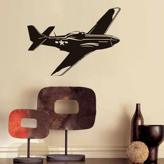 DIY Airplane Silhouette Wall Stickers US Air Force Army Aviation Wall Decals  Fashion Wall Poster For