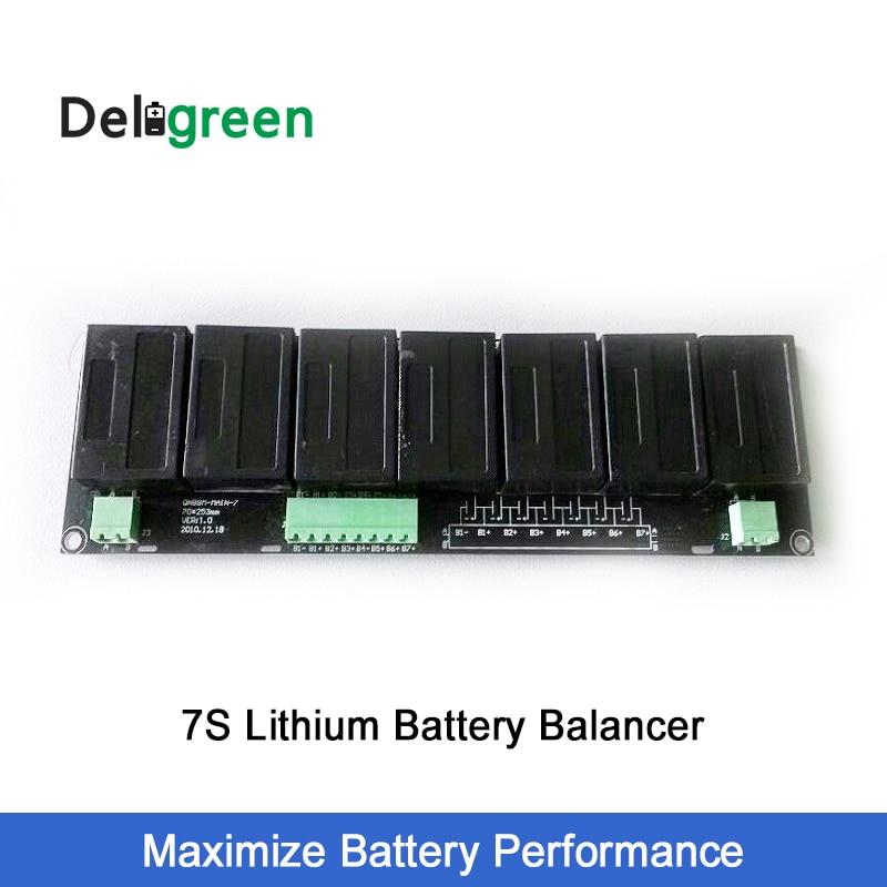 24V BMS Active Battery Equlizer Balancer for 7s Lithium lifepo4 lipo lto battery pack solar power system protection bms for lifepo4 bms 7s 24v bms 24v - title=