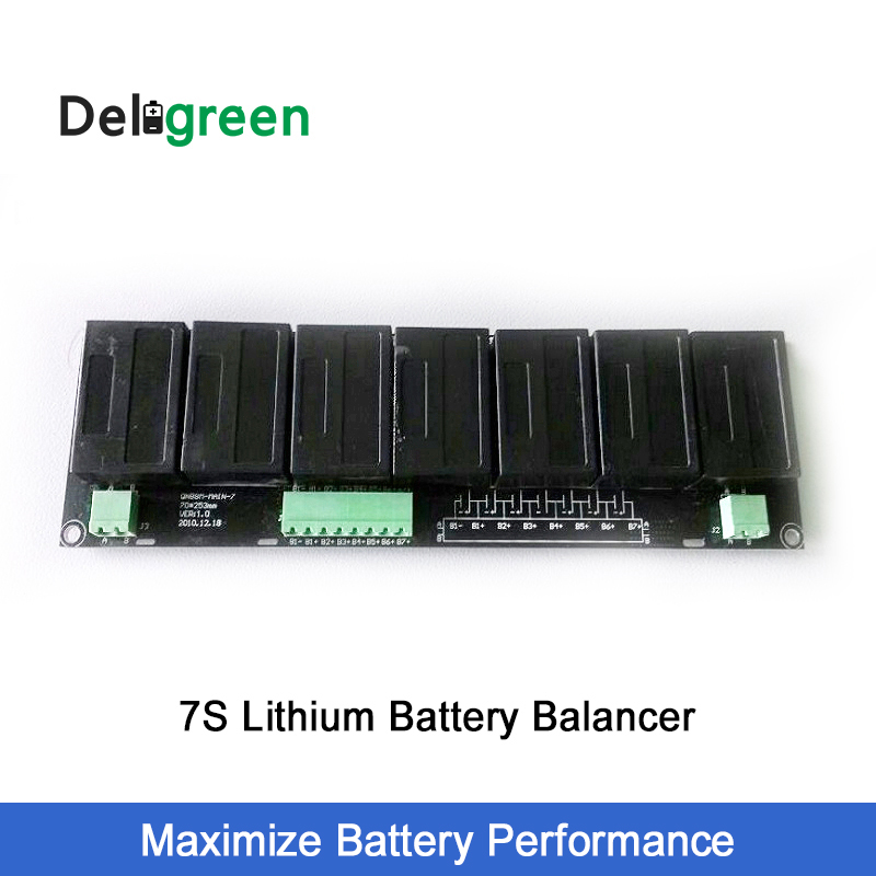Active Battery Equlizer Balancer BMS for 7s Lithium lifepo4 lipo lto battery pack solar power system protection-in Battery Accessories from Consumer Electronics    1