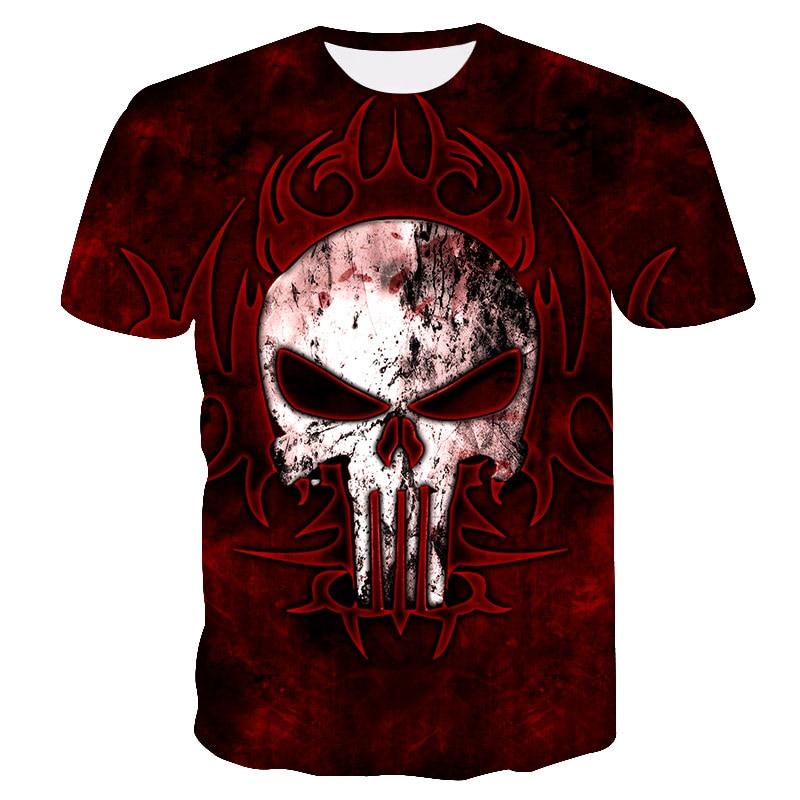 2018 New Skull casual t-shirt 3D printing Avenger Fashion Street Hip Hop Party Men's T-Shirt summer quick-drying skull T-shirt