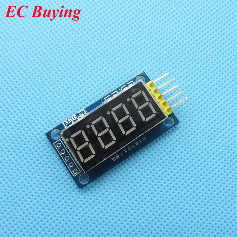 5pcs/lot 4 Bits 4bit Digital Tube Red LED Display Module Four Serial for Arduino 595 Driver
