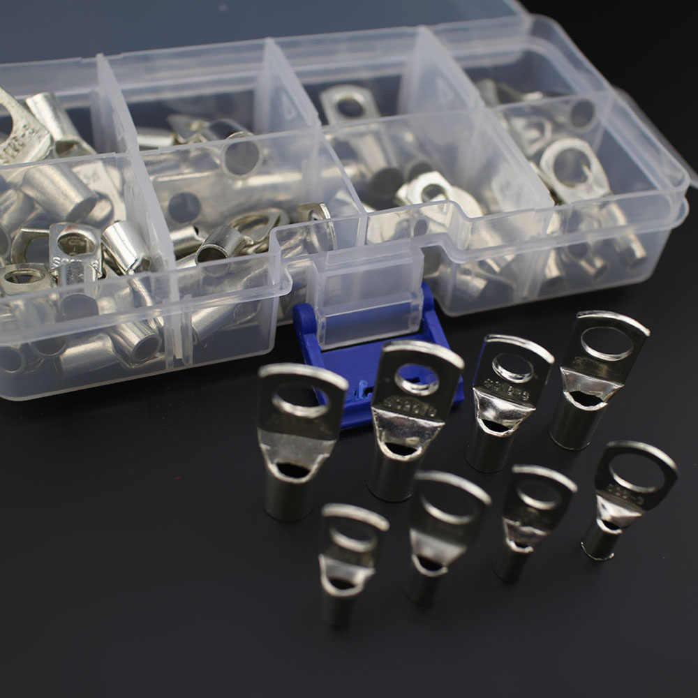 60 шт Терминатор кабель из луженой меди наконечники Батарея разъема комплект электрический сварочный кабель провод разъема обжимные наконечники
