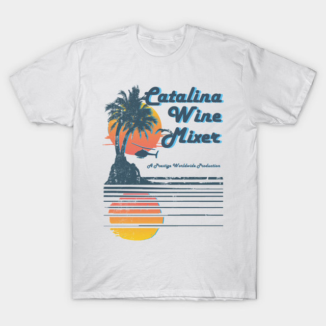 52ec6a6a5 MGTER Prestige Worldwide Step Brothers T Shirt Catalina Wine Mixer T-Shirt  Party California Movie Inspired Tees