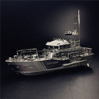 NANYUAN C22201 LIFEBOAT 1 100 2 Sheets Stainless Steel 3D Puzzle Metal Assembly Model Home Furnishing