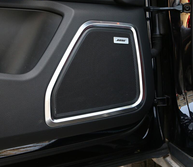 Chrome Car Door Panel Speaker Ring Decoration Circle With Protective