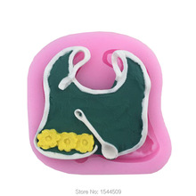 1Pcs Baby Bib Bibs 3D Cake Decoration Tools Food Grade Silicone Mold Chocolate Silicone Mold Cookies Cookware Mold