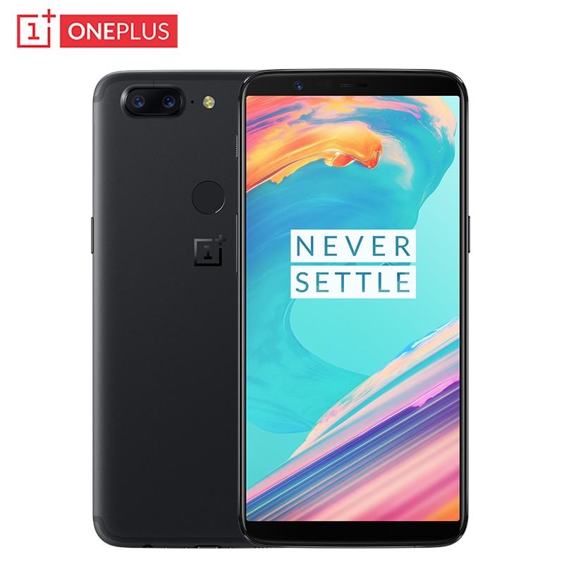 Originale OnePlus 5 t Del Telefono Mobile 6.01 pollice 6 gb di RAM 64 gb ROM Snapdragon 835 Octa Core Android 7.1 doppia Fotocamera Posteriore NFC Smartphone