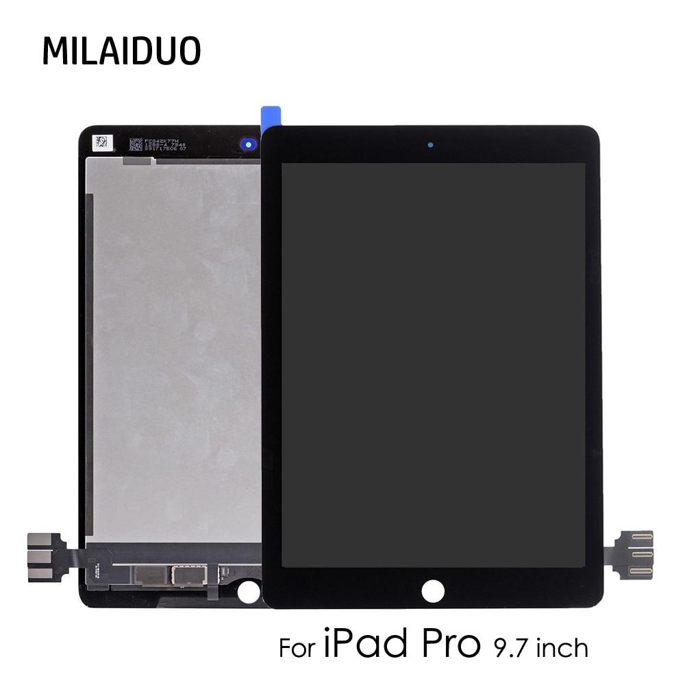 Écran LCD d'origine/OEM pour iPad Pro 9.7 pouces A1673 A1674 A1675 écran tactile numériseur montage complet remplacement sans bouton d'accueil