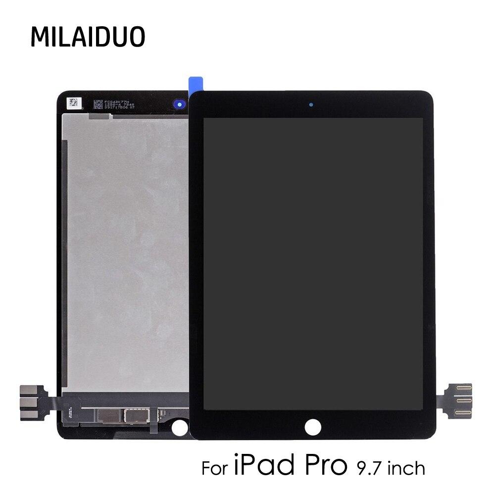 D'origine/OEM écran lcd Pour iPad Pro 9.7 pouces A1673 A1674 A1675 numériseur à écran tactile de Remplacement Assemblée Complet Pas de Bouton D'accueil