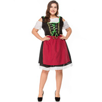Germany Red beer costume Adult Woman Cosplay Beer Girl Dress Big Size