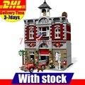 Dhl lepin 15004 2313 unids city creator bomberos modelo regalo diy juguetes juegos de bloques de construcción ladrillos compatible 10197
