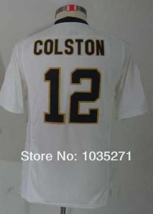 New Material #12 Marques Colston Kids/Youth Jersey,Stitched Logo Embroidery