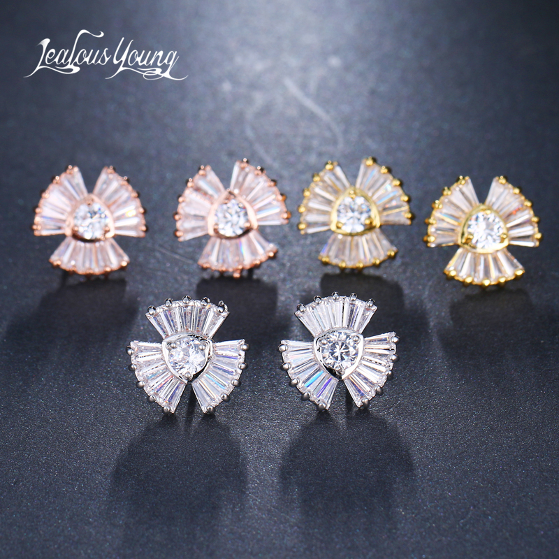Detail Feedback Questions about 2018 New Fashion Crystal Small Stud Earrings  Silver Color Triangle Earrings With Zircon Earings brinco Indian Jewelry  bijoux ... 584bb7b2f44d