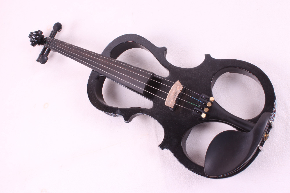 one black     4  -String 4/4 New Electric Acoustic Violin    #5-2502#  i can make any color one 4 string 4 4 violin electric violin acoustic violin maple wood spruce wood big jack green color