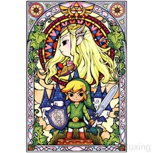 5D DIY Diamond Painting Animated Zelda Legend character puzzle mosaic Full Square Drill Embroidery Decor Home Gift