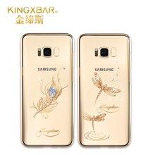 Оригинал kingxbar телефон case для samsung galaxy s8 case для samsung s8 плюс случаях от swarovski горный хрусталь с ясными кристаллами