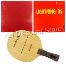 61second Strange King Blade Shakehand with Lightning DS and Dawei 388D-1 Rubbers for a Table Tennis Combo Racket with a free Cov(China)