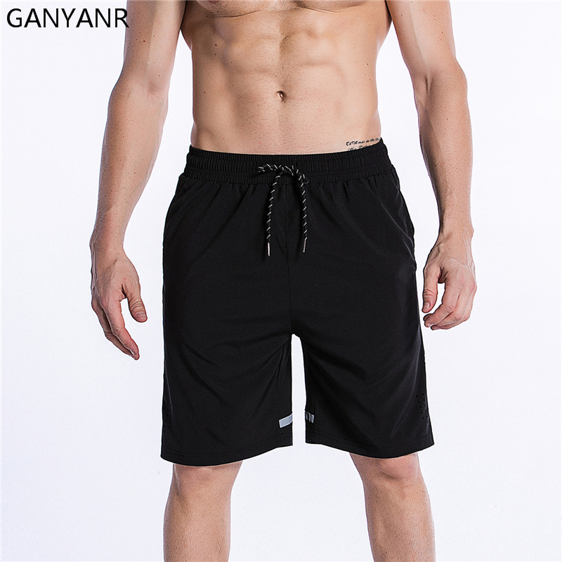 GANYANR Running Shorts Men Basketball Athletic Leggings Gym Sports Volleyball Football Wear Soccer Crossfit Tennis Training Sexy