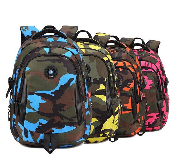 Grade 4-6 primary school backpack child bags kids satchel camouflage teen boys girls book bag shoulder - The Kids Paradise store