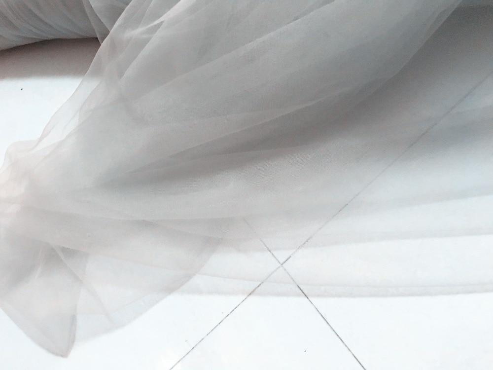 Light Gray Bridesmaid Dresses Knee Length Soft Tulle: New 160cm Wide 4meters/lot Light Gray Thin Soft Good