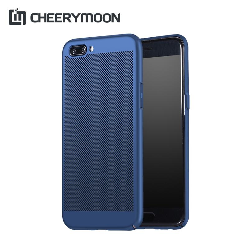 CHEERYMOON Dissipate Heat Ventilated Phone Case For OPPO R11 R9 R9s R7 R7s  Plus A59s A57 A39 A37 A33 Hard Back Shell Cover+Gift