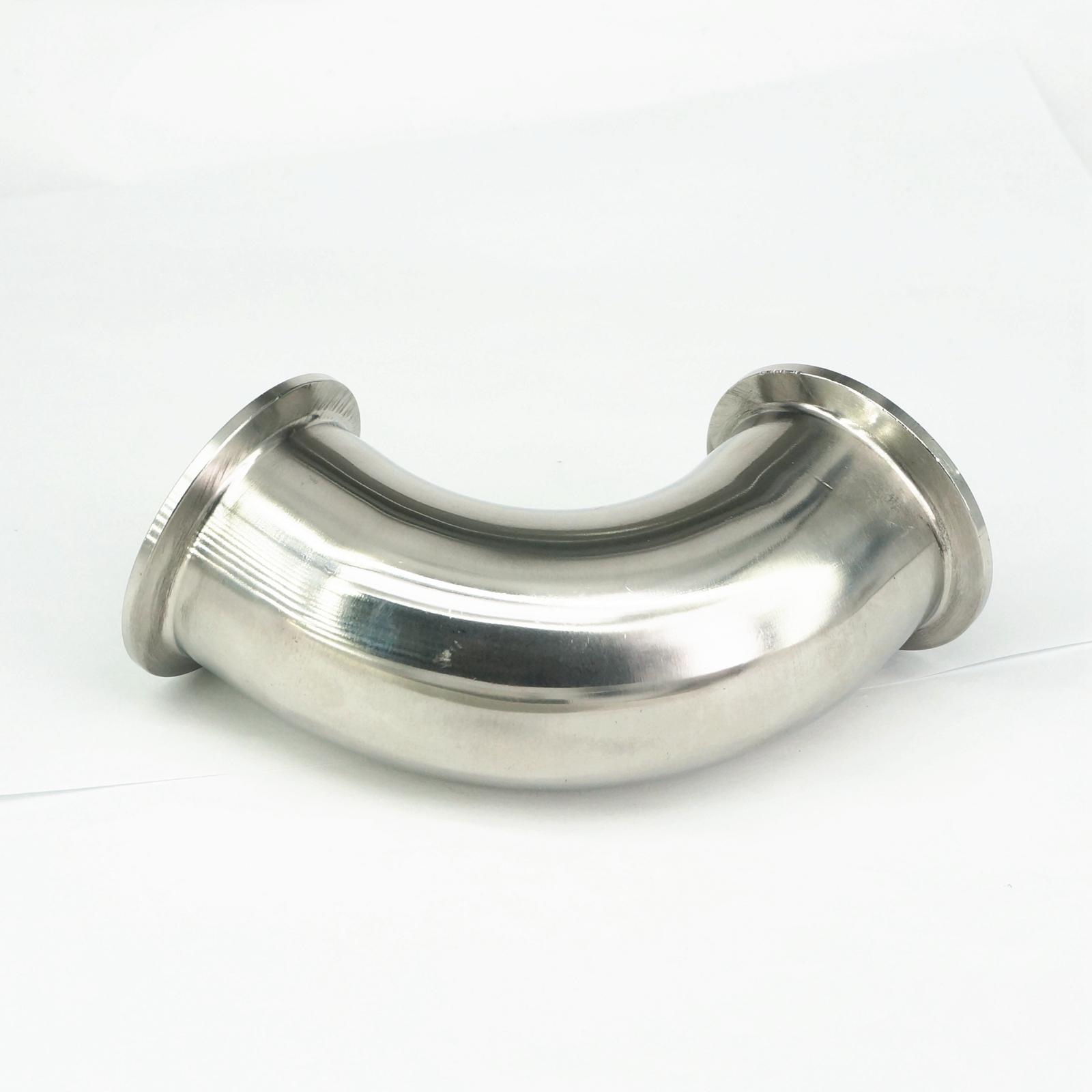 2 Tri Clamp Sanitary 90 Degree Elbow 51mm Pipe OD 304 Stainless Steel Fitting 64mm Feerule OD For Homebrew 1 2 bsp male x 1 5 tri clamp 304 stainless steel pipe fitting connector for homebrew with hex nut