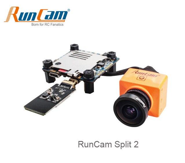 RunCam Diviso 2 FPV WiFi Fotocamera da 2 Megapixel 1080 P/60fps HD registrazione più WDR NTSC/PAL per FPV RC Quadcopter Multicopter