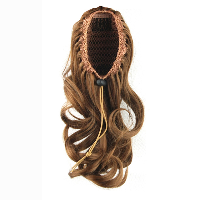 Soowee 4 Colors Wavy High Temperature Fiber Synthetic Hair Ponytail