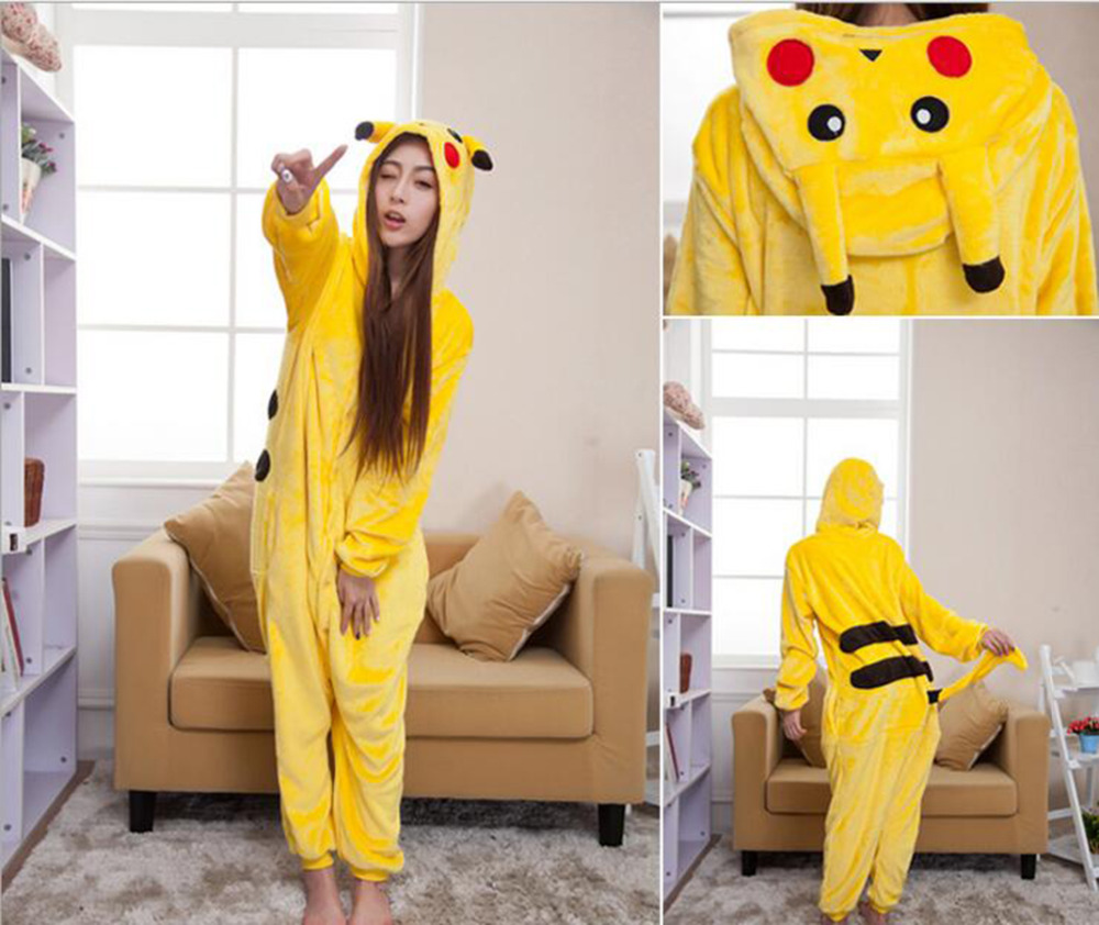 Pokemon go Pajama Adult Kids Cosplay Costume Pikachu Onesie For Unisex Dance Fancy Pajama Halloween Party