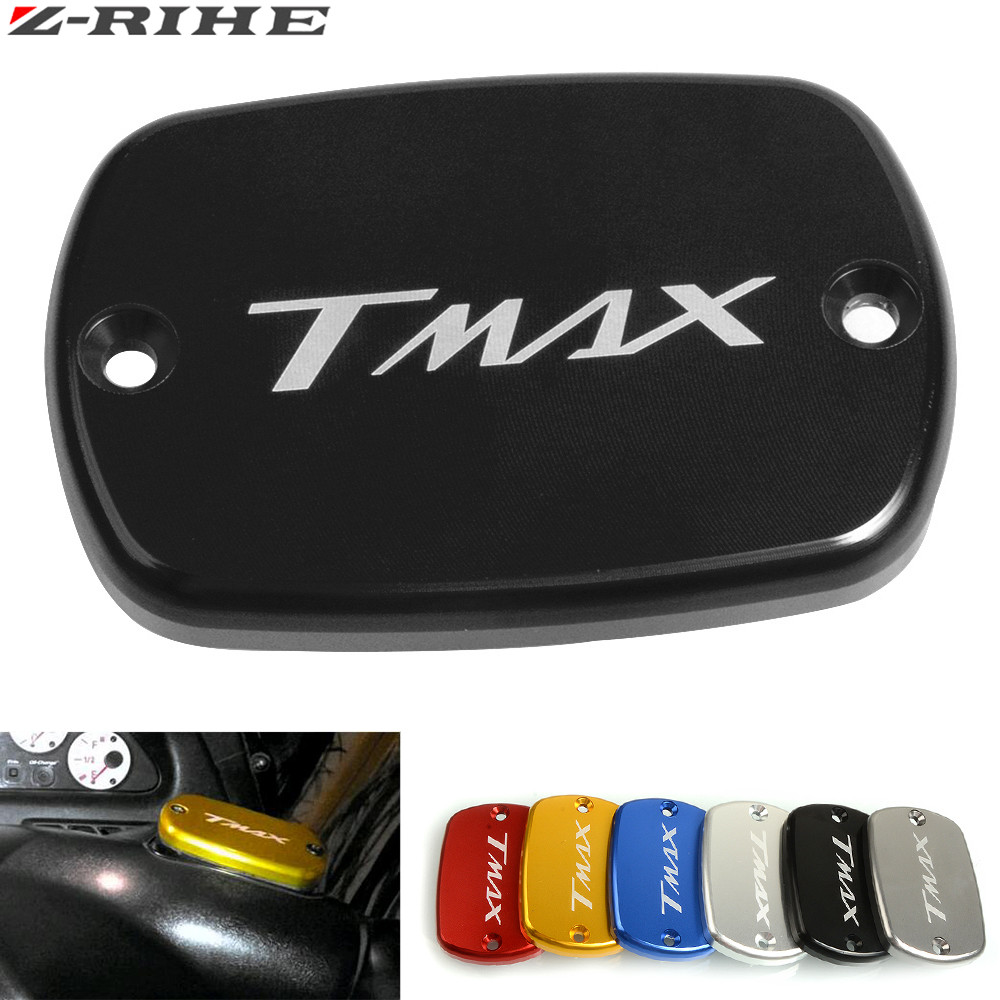 CNC Motorcycle Front Brake Fluid Reservoir Tank Cap Cover For Yamaha Tmax 500 2008-2011 Tmax 530 2012-2018 T Max 530 500 Tmax530