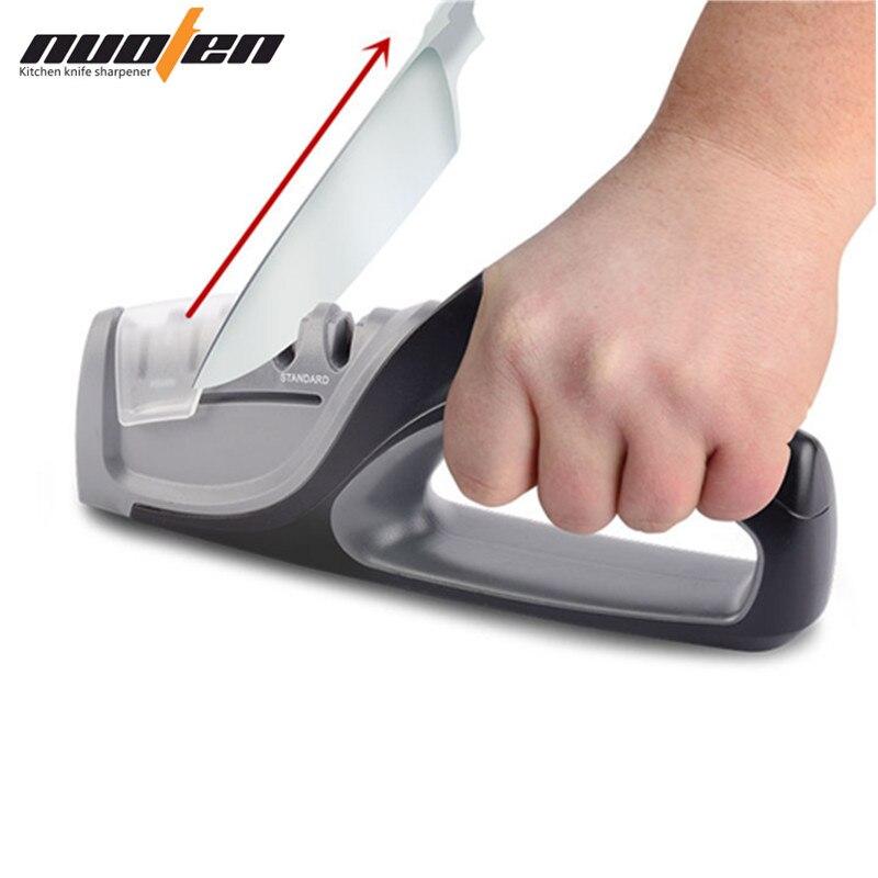 Nuoten marca Borde De precisión profesional cuchillo De cocina afilador 4 etapas Sharp sistema afilado cuchillos Amolador De Faca