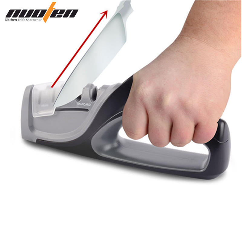 Nuoten marca de borda precisão profissional faca cozinha sharpener 4 estágios afiada sistema afiar facas amolador
