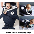 New Ins Autumn Winter Thick Newborn Shark Envelope Blanket Baby Paded Sleeping Bags Sleepsacks in Stroller Fleabag