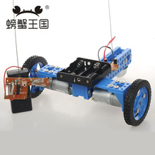 PW M20 DIY Mini RC Car with Remote Controller Universal wheel Technology Invention Funny Puzzle Education KD Car Toy