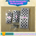 Car Aluminum Alloy foot Gas/petrol/oil Brake Rest accelerator Pedal AT 3pcs for Su6aru XV Forester Outback Legacy(Need punch)