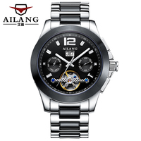 AILANG Top Brand Automatic Mechanical Watch Waterproof Fashion Business Luminous Multifunctional Flywheel Men's Watches Hot Sale