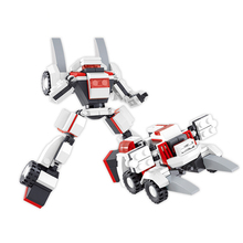 S Model Compatible with B0382 105pcs Shape Shifting Robot Models Building Kits Blocks Toys Hobby Hobbies For Boys Girls l model compatible with lego l15014 1858pcs amusement park models building kits blocks toys hobby hobbies for boys girls