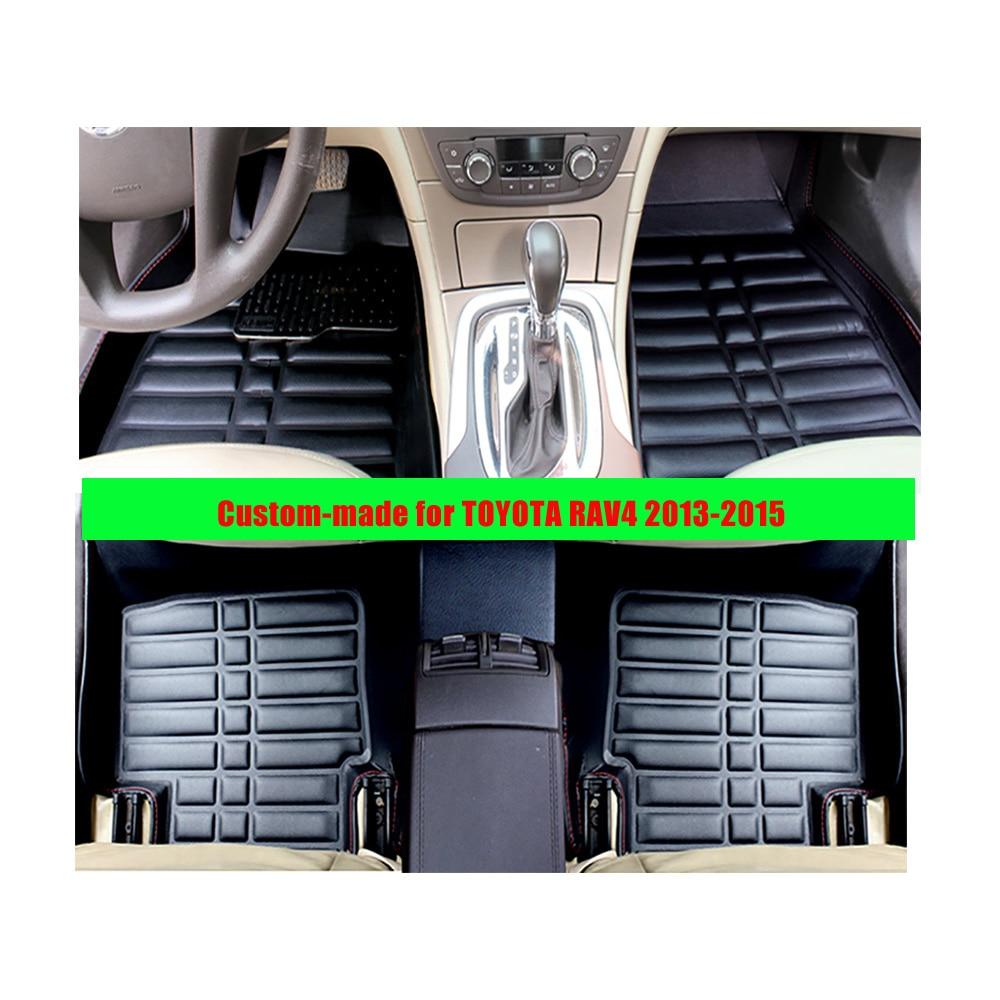 Floor mats rav4 - Custom Fly5d Car Floor Mats For Toyota Rav4 2013 2015 Left Hand Drive Xpe Leather