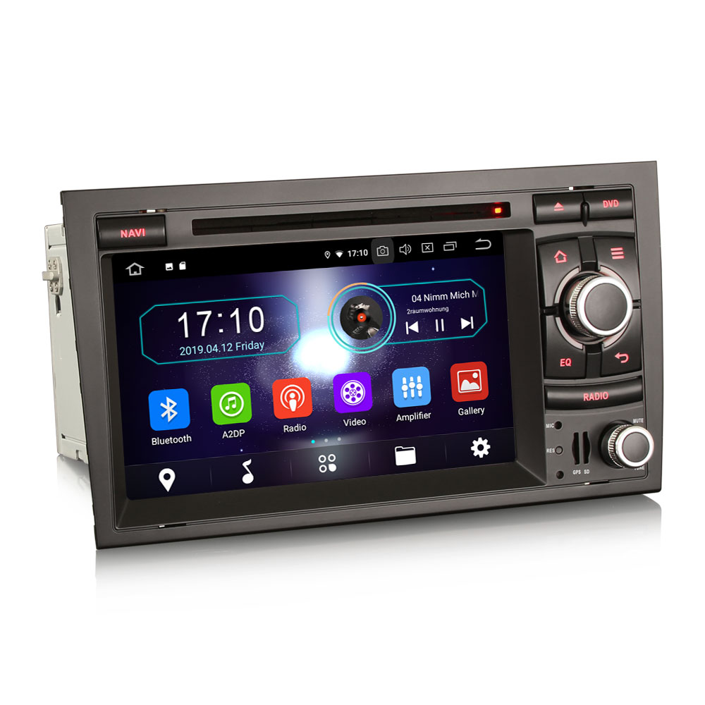 """7"""" Android 9.0 OS Car DVD Multimedia GPS Radio for Audi A4 2000-2008 & S4 2003-2008 & RS4 2002-2008 with 3G/4G Dongle Support(China)"""