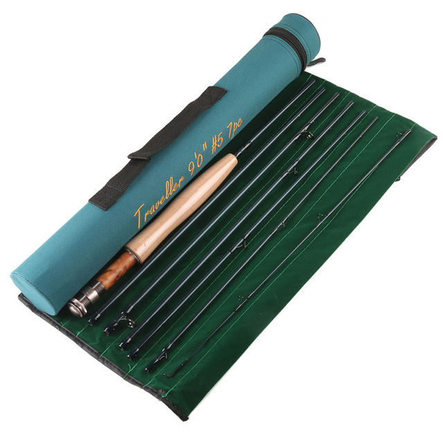 Half well fast action carbon fiber fly rod 9ft 5wt 7pcs for Shipping tubes for fishing rods