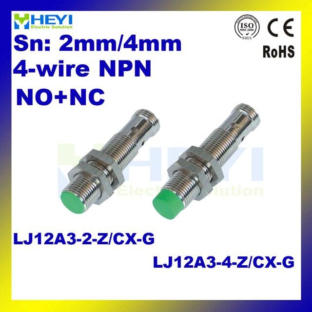 NO + NC חיישן מתכת תיל פינים M12 inductive חיישן הקרבה LJ12A3-2-Z/CX-G LJ12A3-4-Z/CX-G ללא כבלים