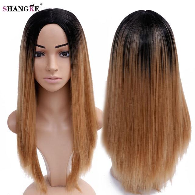 34''350g Longue Ombre Perruque Blonde Longue