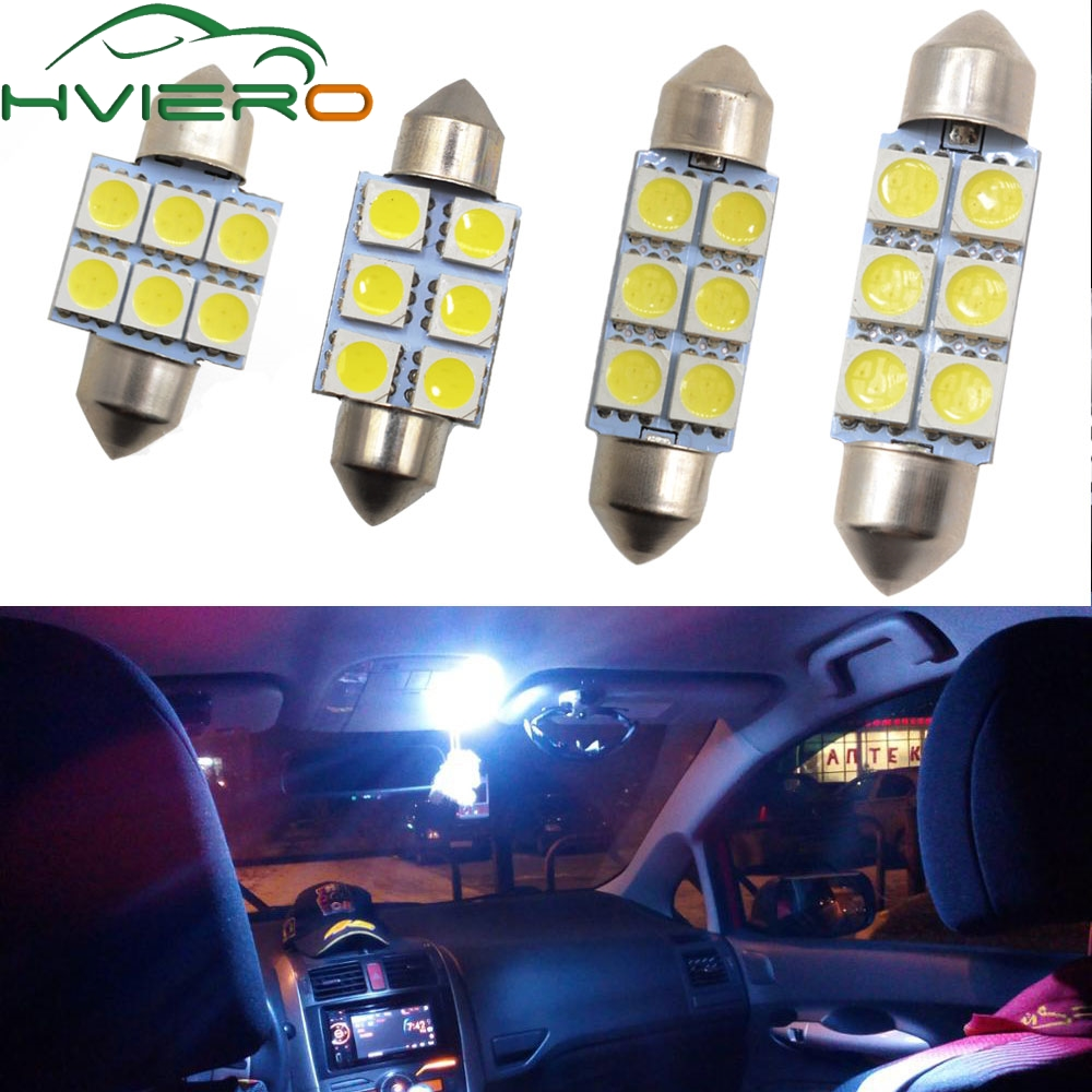 GREEN ICE BLUE 2x 31mm 4 LED 5050 SMD number plate interior dome light festoon bulb WHITE AMBER RED PINK Blue BLUE