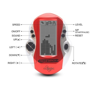 Image 4 - جهاز ألعاب محمول باليد من Powstro طراز قديم كلاسيكي من Tetris للألعاب الإلكترونية في مرحلة الطفولة جهاز ألعاب LED مزود بـ 26 لعبة