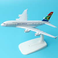 Airbus A380 South African Airways 16cm Alloy Aircraft Model Aviation Model Plane Model Aircraft Airplane Model w Stand Craft